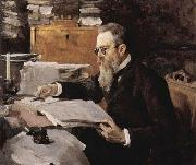 Valentin Serov Portrait of Nikolai Rimsky Korsakov 1898 oil painting picture wholesale